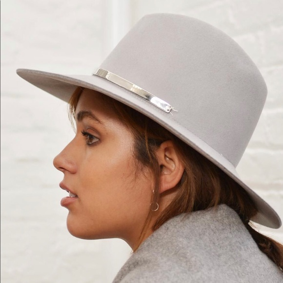 a66b43da Janessa Leone Accessories | Janessa Leon Sylvar Grey Wool Felt Hat ...